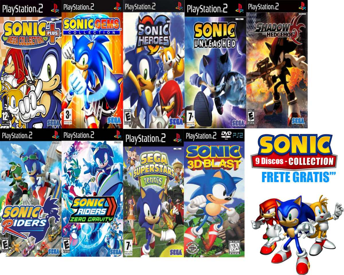 Sonic Games For Ps3 : Sonic ultimate collections playstation frete gratis