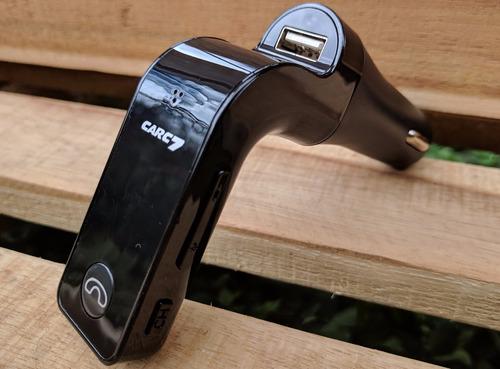 sonido carro transmisor fm bluetooth manos libres cargador