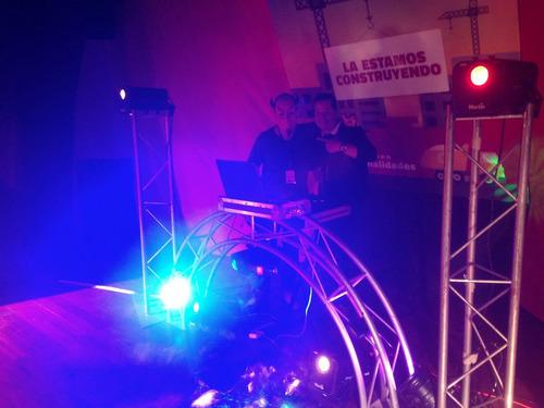 sonido, display, dj, orquesta hora loca, robot