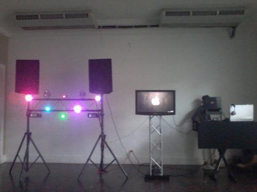 sonido, luces, humo, burbujas, discplay, dj, miniteca