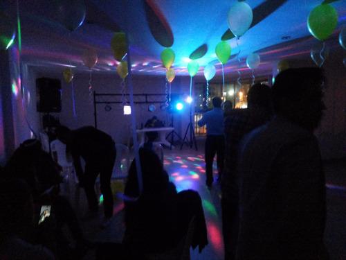 sonido, musica, luces, decoracion, sillas, carpas dj, tarima