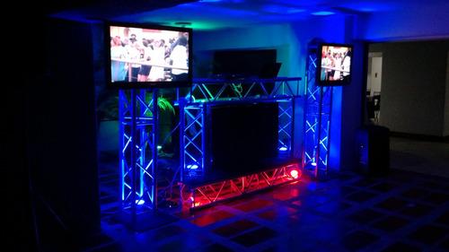 sonido musica miniteca karaoke alquiler truss dj pantalla