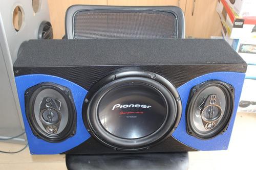 sonido para carro pioneer parlantes bajo pioneer oferta caja