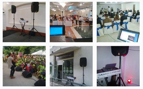 sonido para eventos, fiestas, reuniones, conferencias