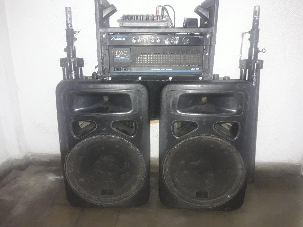 Sonido Premium Completo (peavey-alesis-qsc) Bafles Rcf Joya! - $ 25 000,00