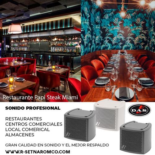 sonido pro, restaurantes, bares, discotecas, locales...