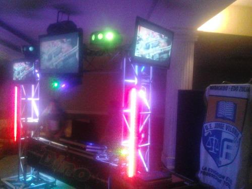 sonido profecional tarimas luces pantallas
