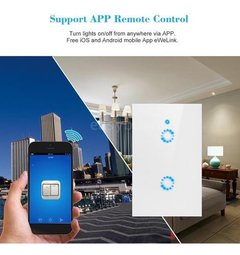 sonoff® 2 botoes-touch t1 us- rf 315 / wi-fi - padrão brasil