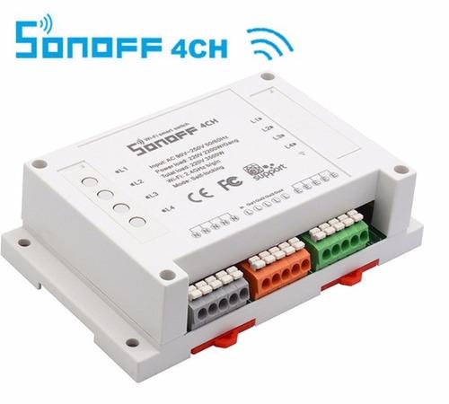 sonoff domotica rele interruptor 4ch wifi automatizacion 3g