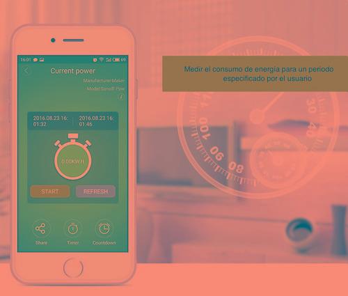 sonoff pow 3500w - mide consumo electrico - domotica- wifi