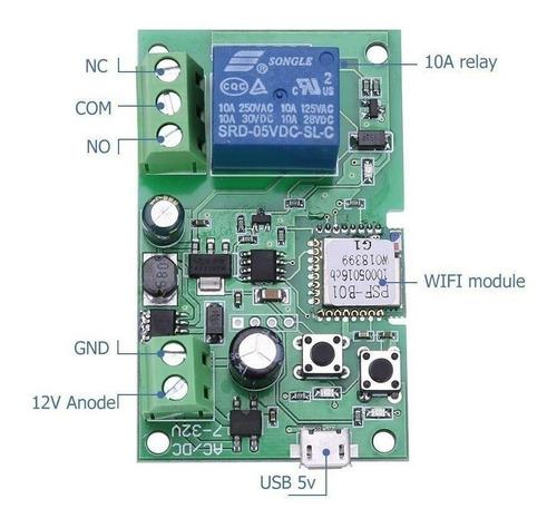 sonoff pulso - relé wifi automação portão eletrônico