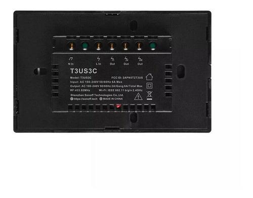 sonoff t3 us 2 canales - tecla de pared touch wifi