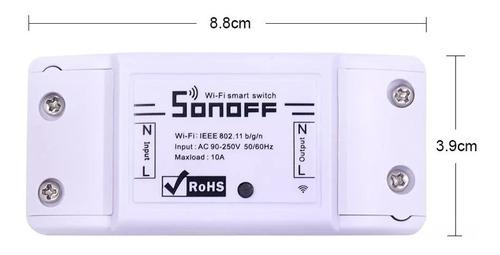 sonoff wifi automação residencial android google home 10a