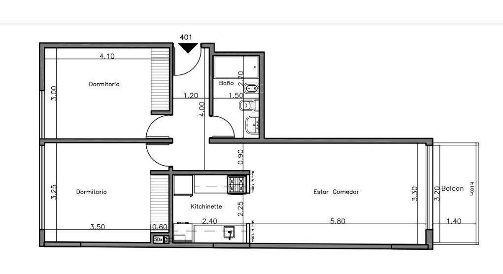 sonoma 9 - pre venta -  departamento 2 dormitorios - general paz
