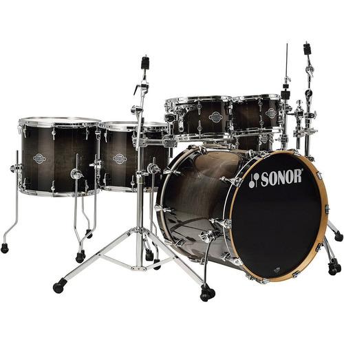sonor bateria profesional café smooth burst sef 11 studio wm