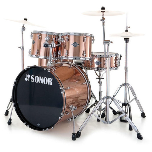 sonor bateria profesional cobre mod sfx11 6pza stage wmbrush