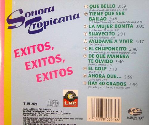 sonora tropicana - éxitos, éxitos, éxitos