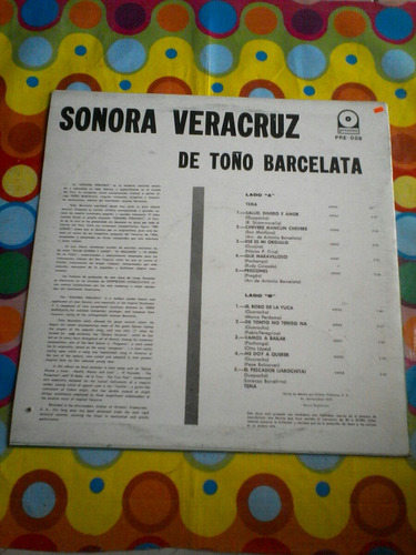 sonora veracruz lp  de toño barcelata 1974