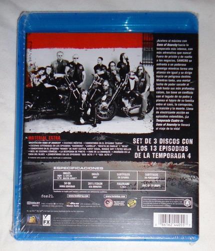 sons anarchy cuarta temporada 4 cuatro blu-ray
