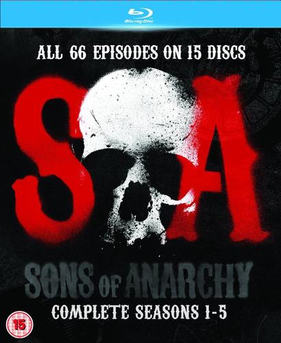 sons of anarchy temporadas 1 a 5. blu-ray de importación
