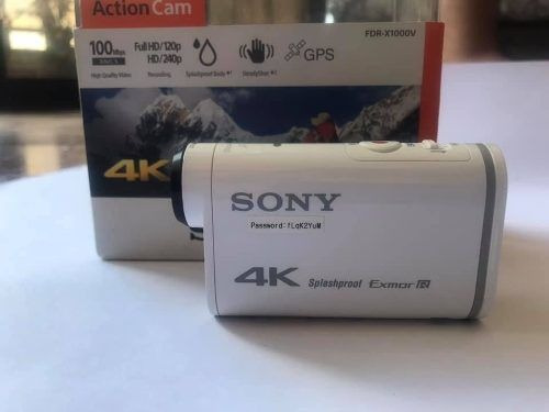 sony action cam fdr-x1000v 4k full hd splashproof tipo gopro