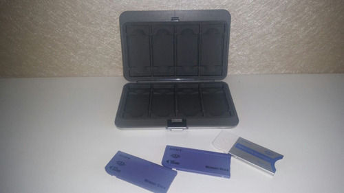 sony adaptador ms duo p/ ms msac-m2+ case+ 2 memory sticks