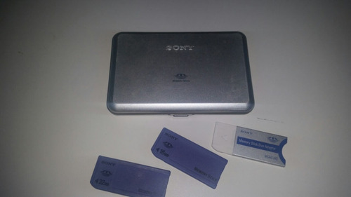 sony adaptador ms duo p/ ms msac-m2+ case+ 2 memory sticks