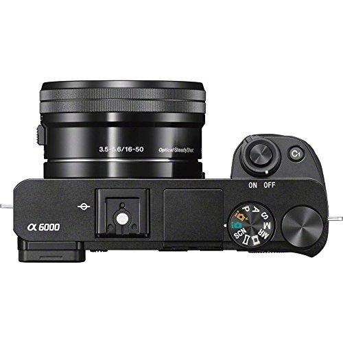 sony alfa cámara a6000 con 55-210mm y 16-50mm lentes de...