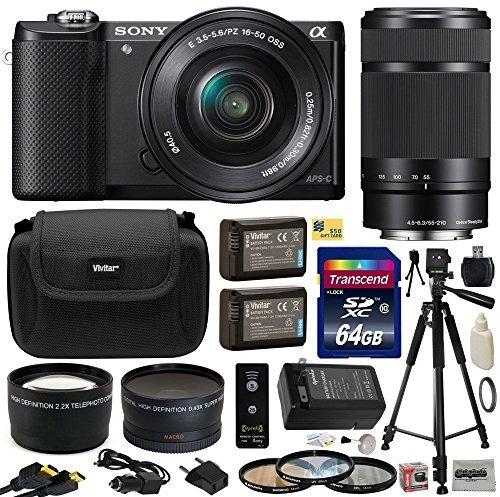 sony alpha a5000 cámara de lentes intercambiables de 2 w1