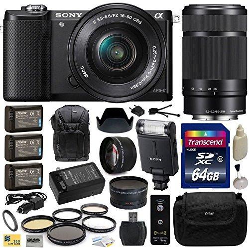 sony alpha a5000 cámara de lentes intercambiables de 2 w4