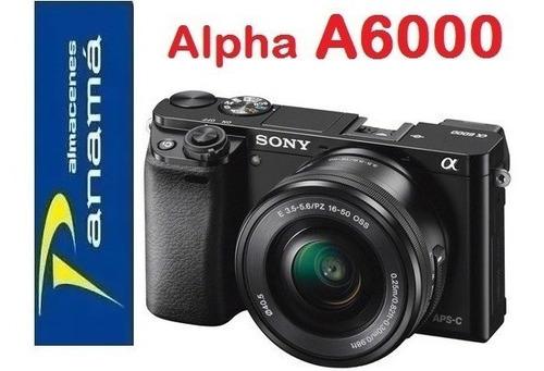 sony alpha a6000   con lente  16-50mm  nuevas de paquete