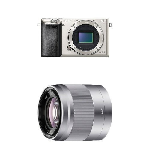 sony alpha a6000 interchangeable lens camera with 50mm lens
