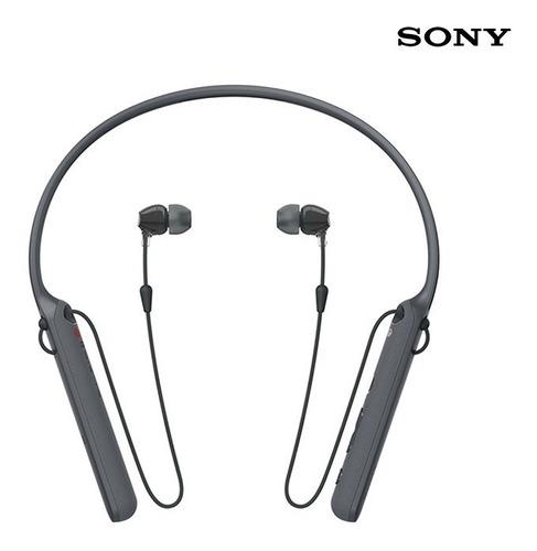 sony - audífonos bluetooth wi-c400 negros