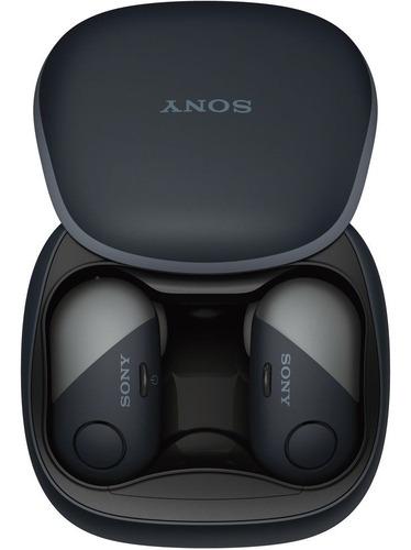sony audífonos con noise cancelling wf-sp700n negro