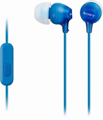 sony auriculares estéreo azul auriculares mdr-ex15ap manos