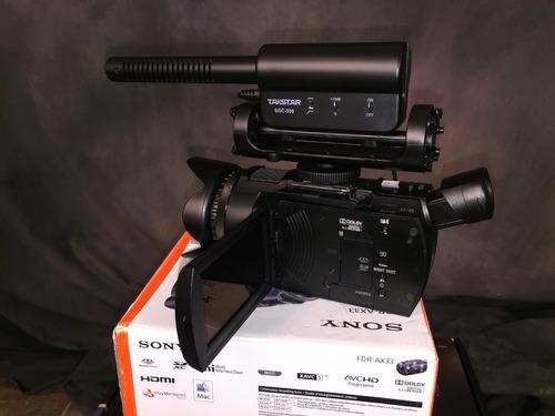 sony ax33 4k micrófono externo