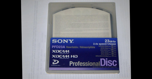 sony bluray disk pfd23a  23gb