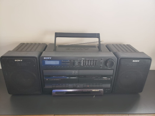 sony boombox stereo cassette corder cfs730 funciona equalize