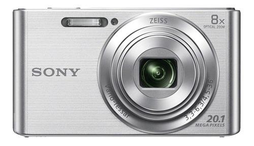 sony cámara compacta con zoom óptico de 8x dsc w830 silver