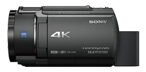 sony camara handycam video 4k con sensor exmor r fdr ax40