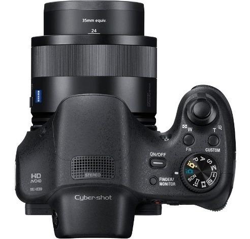sony cámara semiprofesional zoom óptico 50x sensor  dsc hx35