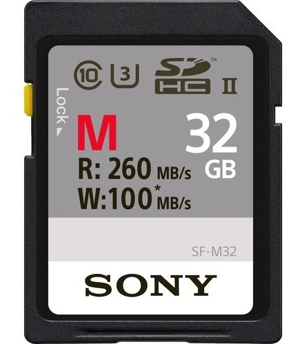 sony cartão sd profissional 32gb 260mb/s sf-m32/t uhs-ii