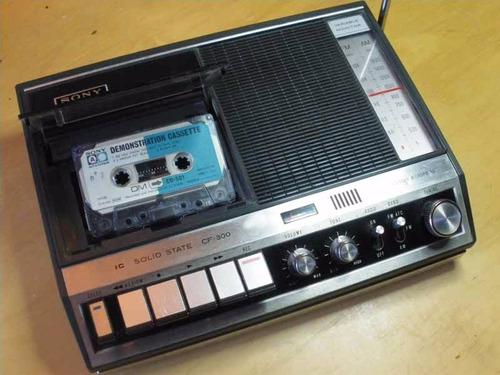 sony cf300 - radiograbador - japon