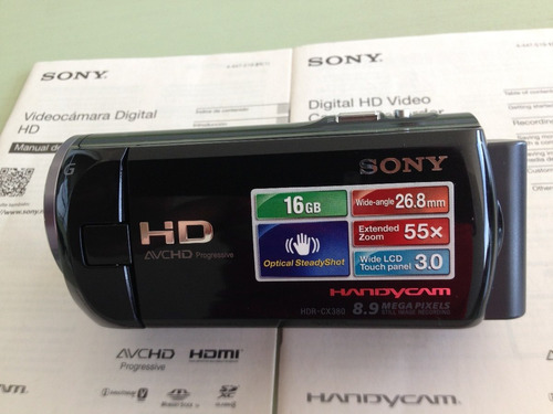 sony cx 380 impecável lcd touch completa