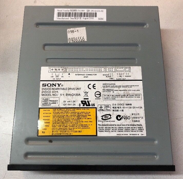 Apple g5 sony dw-q28a dvd/cd rewritable drive 2006 678-0504a.