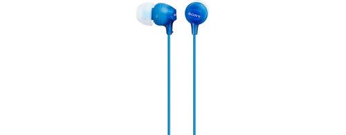 sony ex15pl audífono azul de pastilla(gadroves)