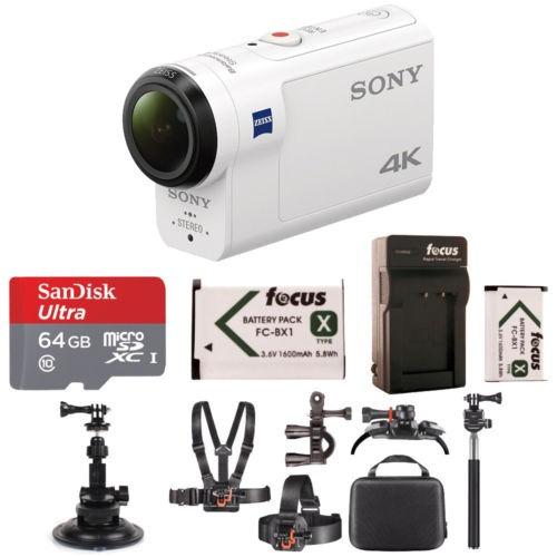 sony fdrx3000/w 4k hd grabación, acción cam videocámara subm