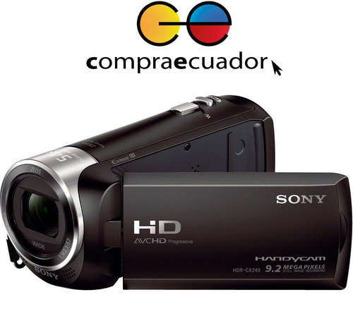 sony filmadora 9.2 mp 60 x zoom 50 mbps cx405 handycam