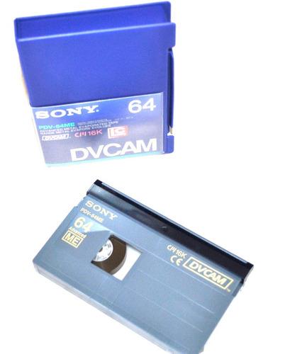 sony fita  video dvcam pdv-64me standard 64 minutos