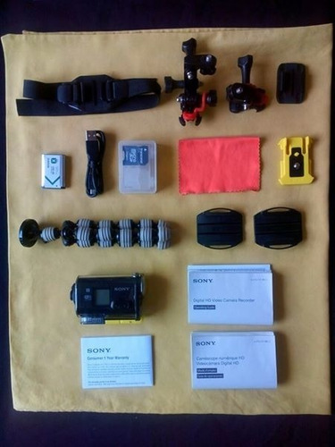 sony hdr as30v actioncam +accesorios